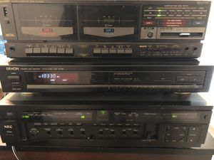 Tape cassette, AM/FM receiver, amplifier for Sale in Columbus, OH