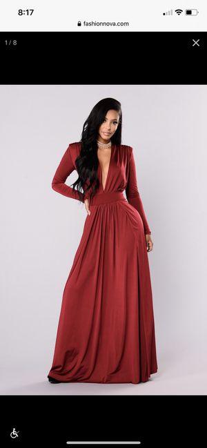 Spree Dress - Burgundy Fashion Nova Small for Sale in Freehold, NJ