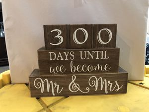 Wedding Date Countdown for Sale in Midland, TX
