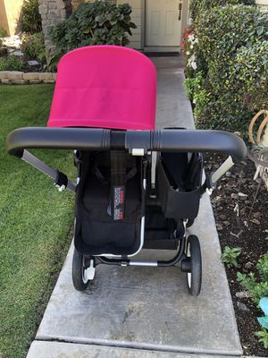 Bugaboo donkey stroller with leather handles and only used for months for Sale in Upland, CA