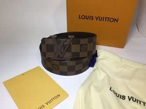 Louis Vuitton Authentic Ceinture Initials Damier Brown Leather Belt for Sale in Queens, NY