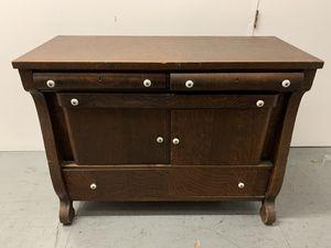 Vintage Kitchen Dresser Cabinet Real Wood Antique for Sale in Whittier, CA
