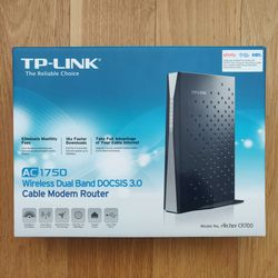 TP-Link Archer CR700, AC1750 wireless dual band DOCSIS 3.0 cable modem router for Sale in Jersey City,  NJ