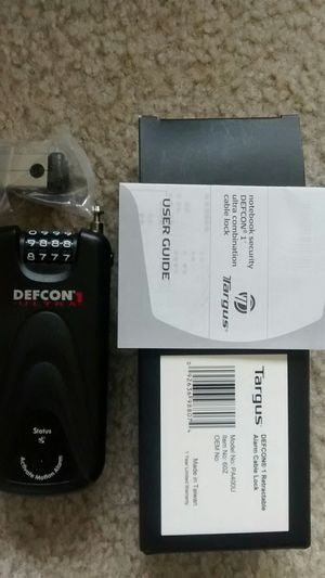 Targus DEFCON 1 NOTEBOOK SECURITY LOCK for Sale in Rockville, MD