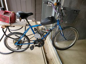 Gas powered bike, 2 stroke motor...fast and fun to ride just have no use for it for Sale in Ball Ground, GA