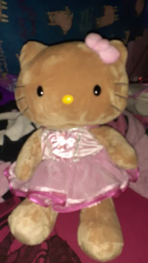 Hello kitty pink dress brown plush build a bear for Sale in Houston, TX