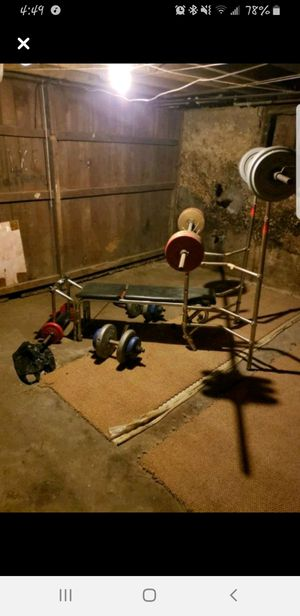 Weight bench set for Sale in Davenport, IA