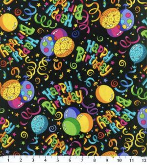 Happy Birthday Fabric ~ 100% Cotton ~1 Yard for Sale in Lancaster, NY