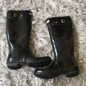Hunter classic rain boots black size 8 for Sale in Henderson, NV