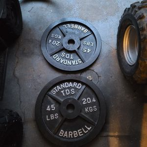 Set Of TDS 45lbs Olympic Plates 2inch for Sale in Philadelphia, PA