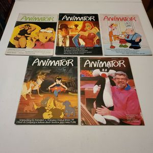 Animator Magazine Issue no. 20, 24, 25, 26, 27, Rare UK Animation Magazine Lot, Disney, Roger Rabbit, Sullivan Bluth, Land Before Time, All Dogs Go .. for Sale in Fresno, CA