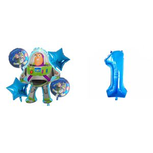 """Toy Story """"Buzz Lightyear"""" 6pcs foil balloons. for Sale in Los Angeles, CA"""