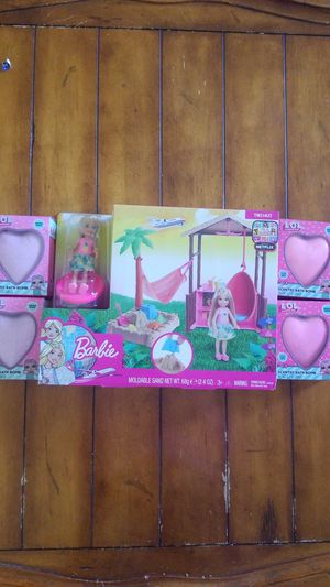 New girls toy play lot Barbie doll chloe LOL bath bombs with surprises inside birthday gift Easter basket filler 🎁🐇 for Sale in Gilbert, AZ