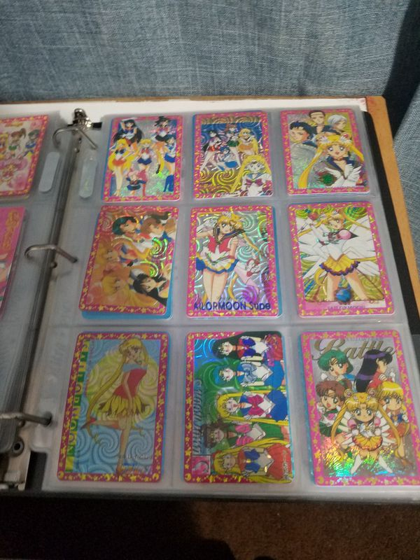 Sailor moon trading card and stickers