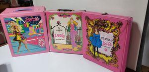 Vintage Barbie Doll Cases (3) for Sale in Orlando, FL