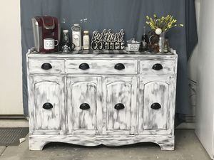 Farmhouse / Shabby Chic - Coffee Bar/Buffet/ Credenza/ Entry Table or TV Stand for Sale in Goodyear, AZ