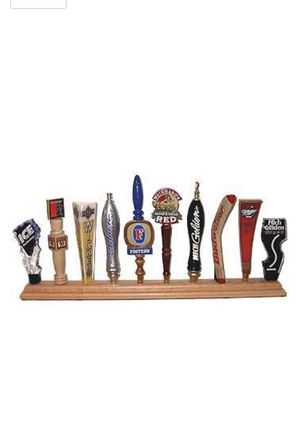 Display shack 10 plays tap handle display stand rack, red Oak 5 available (new open box) does not include beer taps for Sale in La Verne, CA