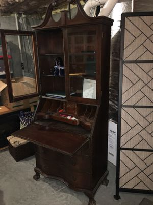 Antique cabinet and desk for Sale in Medfield, MA