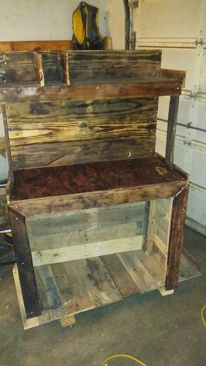 Handmade wooden computer desk for Sale in Wichita, KS