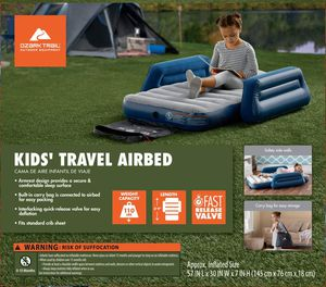 Kids Travel Airbed Air Bed Mattress Guest Room Sleepover Camping Portable Outdoor for Sale in Santa Fe, NM
