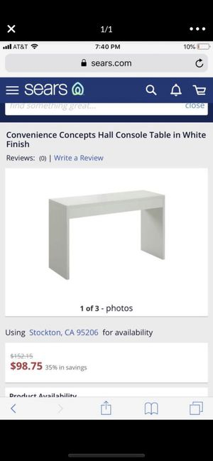 White table console table hall table for Sale in Stockton, CA