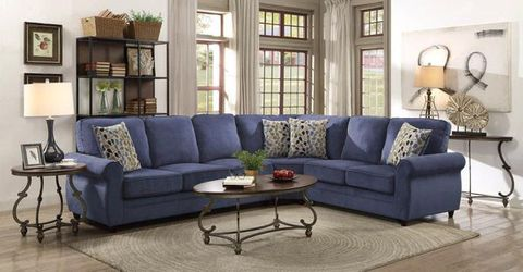 New blue pullout sleeper sectional for Sale in Union City,  GA