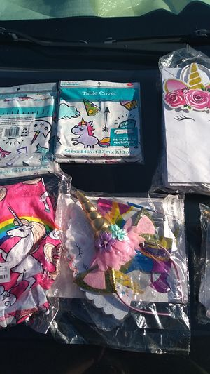 New unicorn party stuff . for Sale in Grand Prairie, TX