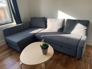 FRIHETEN Sleeper sectional,3 seat w/storage, Skiftebo dark gray for Sale in Washington, DC