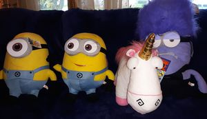 4 Minion Large Plush Dolls for Sale in Buffalo, NY