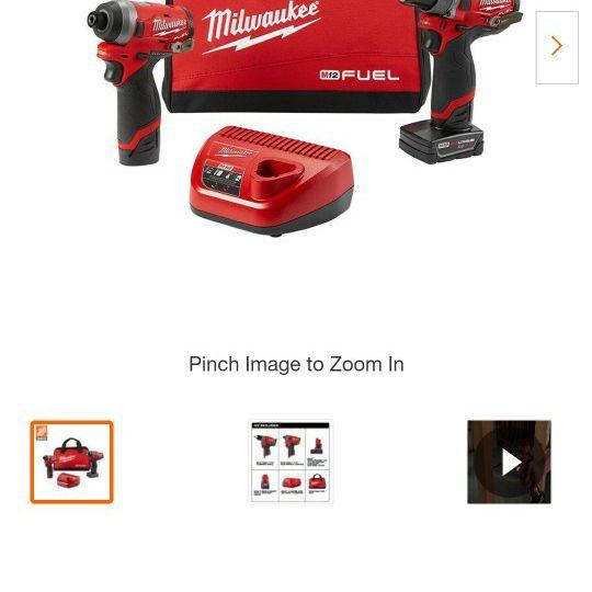 Milwaukee M12 FUEL Hammer Drill & Impact