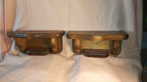 Decorative Wall Hanging Floating Shelf Pair Solid Wood Display Shelf (2) for Sale in Port Huron, MI