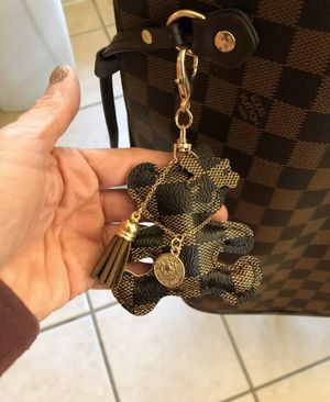 Faux leather bear key ring / handbag charm for Sale in Corona, CA