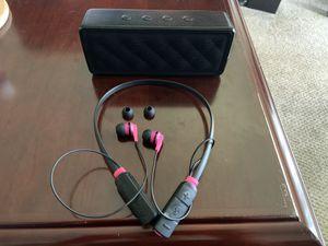 Skullcandy Bluetooth Earbuds & Amazon Bluetooth Speaker for Sale in Huntington Beach, CA