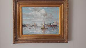 Elegant oil painting Nautical landscape for Sale in Alexandria, VA