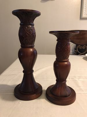 Wooden candle holders set for Sale in Long Beach, CA