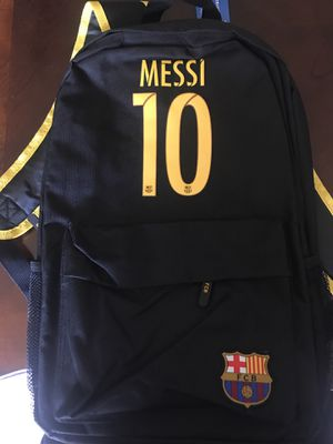 *CUSTOM* SOCCER BACKPACK #10 MESSI FC BARCELONA for Sale in Dallas, TX