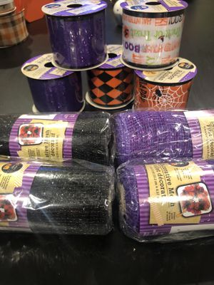 Halloween ribbon decorative mesh for Sale in Montclair, CA