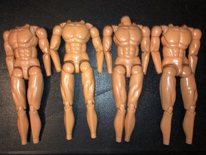 "Four (4) 12"" male action figures, muscular body type; 1/6 scale for Sale for sale  Montgomery, AL"