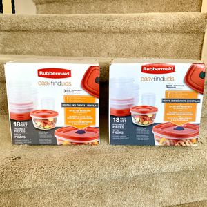 (2) Sets of Rubbermaid Easy Find Lids NIB! OBO for Sale in Plano, TX