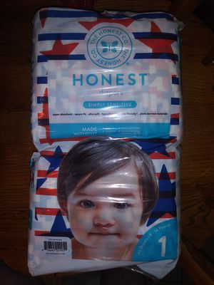 Honest Diapers sz 1 for Sale in New Britain, CT