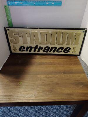 Stadium Entrance sign vintage for Sale in West Palm Beach, FL