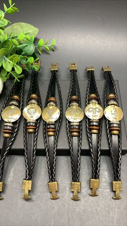 12 Constellations Multilayer Leather Bracelet, Each $8.99 for Sale in Los Angeles,  CA