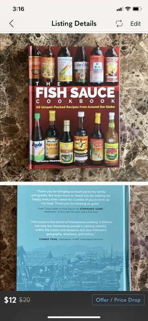 Fish sauce cookbook for Sale in Guilford, CT