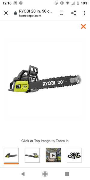 Ryobi chain saw for Sale in Houston, TX