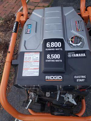 Rigid 8500 Watt Generator. Only 17 hours! for Sale in West Friendship, MD