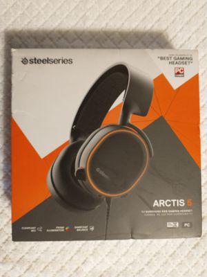 Steel Series Arctis 5 Prism Rgb 7.1 surround headphones for Sale in Lexington, NC