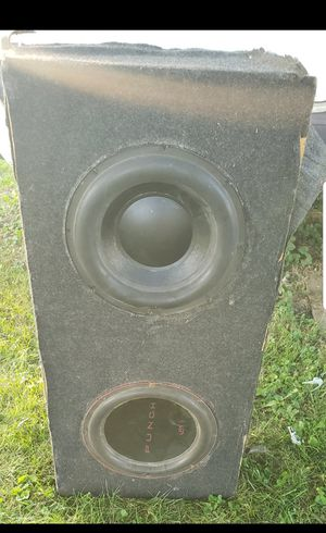 """Rockford Fosgate Punch Audo Planet speakers 12"""" with box , amplifier , and digital bass machine for Sale in Columbus, OH"""
