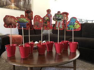 Toy story party decor/ back drops / center pieces for Sale in Norco, CA