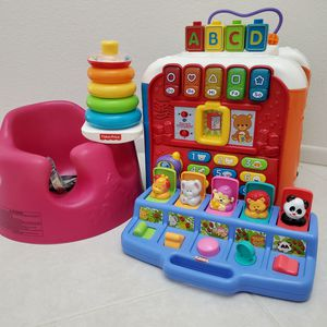Baby-toddler toys, vtech, fisher-price, playskool, bumbo for Sale in Poway, CA