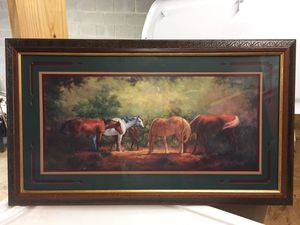Home interior Horse matter and framed picture for Sale in Townville, SC